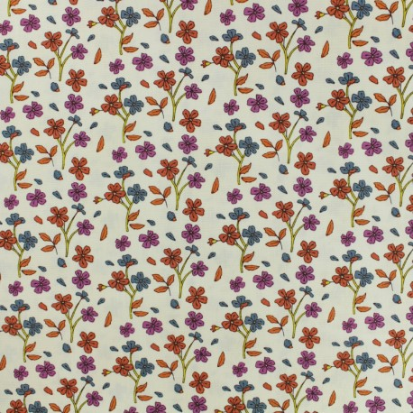 Cotton fabric - AGF Blush Cosy Ditsy Apricot x 10cm
