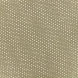 Poppy cotton fabric Graphics Stars - sand/white x 10cm