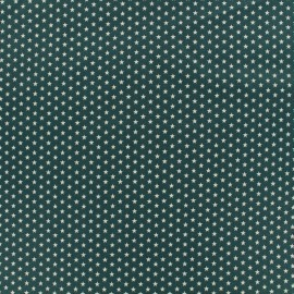 Poppy cotton fabric Graphics Stars - eucalyptus/white x 10cm