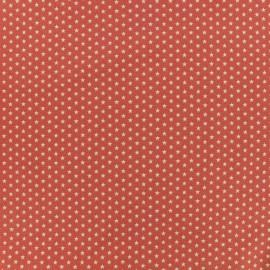 Poppy cotton fabric Graphics Stars - coral/white x 10cm