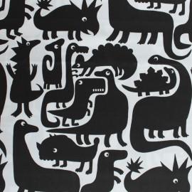 Tissu Alexander Henry Dino-Mite - blanc x 10cm