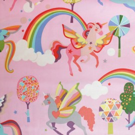 Alexander Henry cotton fabric - Pink Magic Rainbow Shine x 10cm