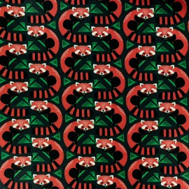 Tissu coton Blend fabrics Panda forest - vert x 10cm