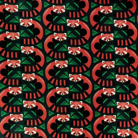 Blend Fabrics Cotton Fabric - Green Pandas Forest x 10cm