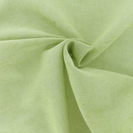 Lurex Sheer Polycotton fabric - Pistachio Green Basicos x 10cm