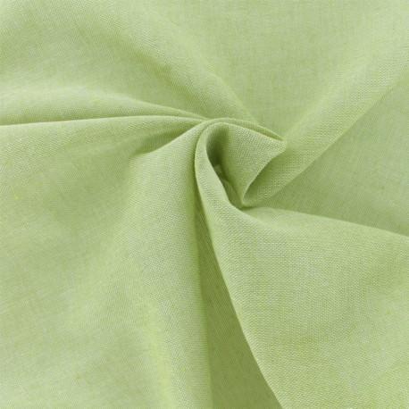 Tissu voile de polycoton Basicos - vert pistache x 10cm