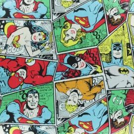 Tissu coton BD Super-héros - Multi x 10cm