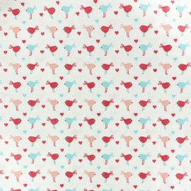 Cretonne cotton fabric Baby cot Pioupiou - blanc x 10cm