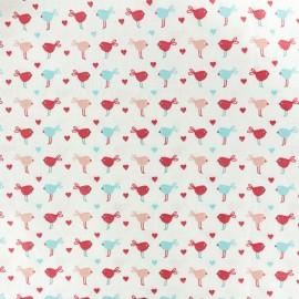 Tissu coton cretonne Baby cot Pioupiou - blanc x 10cm