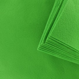 Felt Sheets 24 x 30 cm (12 Pack) - Apple Green