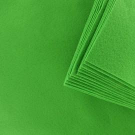 Feuille de Feutrine 24 x 30 cm (Lot de 12) - Vert Pomme