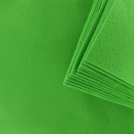 Felt Sheets 24 x 30 cm (12 Pack) - Apple Green