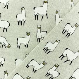 Tissu polycoton - Lama - naturel x 10cm