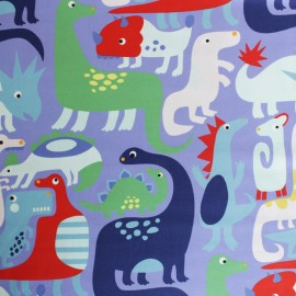 Alexander Henry cotton fabric - purple Dino-Mite x 10cm