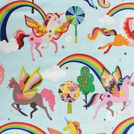 Alexander Henry cotton fabric - blue Magic Rainbow Shine x 10cm