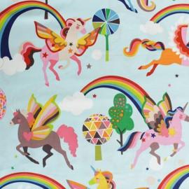 Tissu Alexander Henry Magic Rainbow Shine - bleu x 10cm