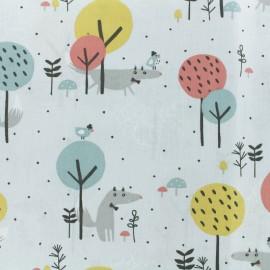 Cretonne cotton Fabric - pink Loupala x 10cm
