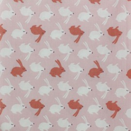 Cretonne cotton Fabric - pink Balapin x 10cm