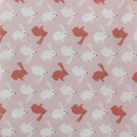 Tissu coton cretonne Balapin - rose x 10cm