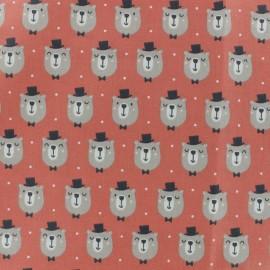 Tissu coton cretonne Rizzo - Corail x 10cm