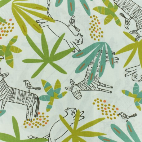 Cretonne cotton Fabric -  Raw Mixani x 10cm