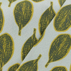 Cretonne cotton Fabric - grey Arali  x 10cm