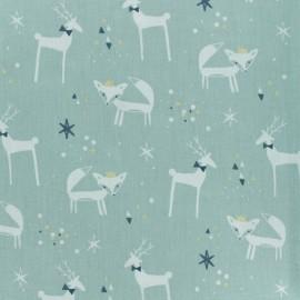 Tissu coton cretonne Danizz -  bleu glacier x 10cm