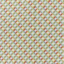 Tissu coton cretonne Zeleo - blanc x 10cm