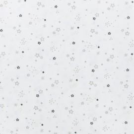 Tissu coton cretonne Zenor - gris x 10cm