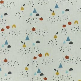 Tissu coton cretonne Oboe - beige x 10cm