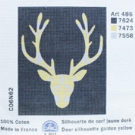 Toile Canevas 15 x 18 cm - Cerf