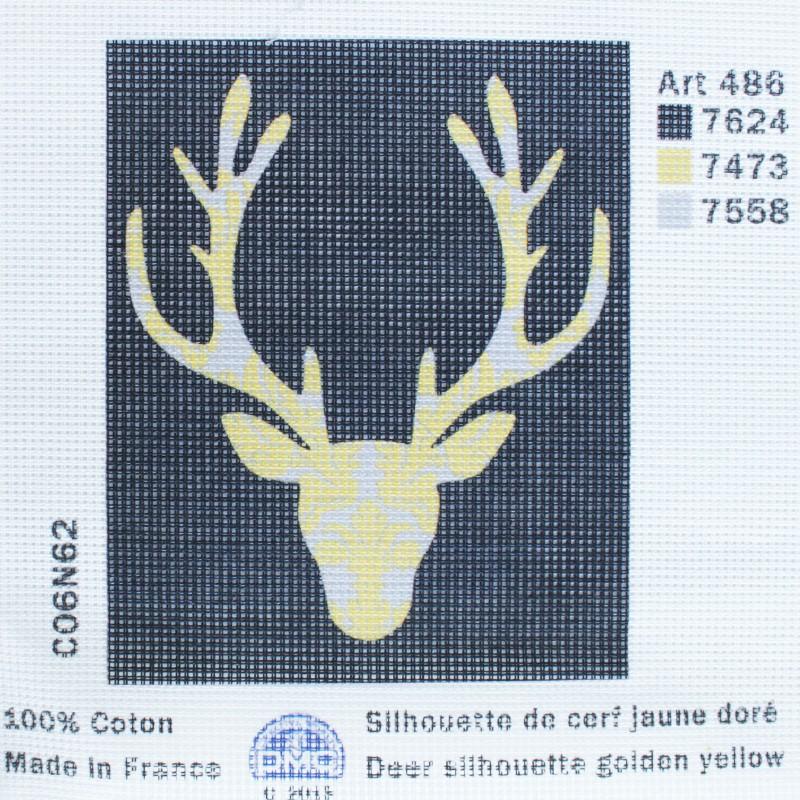 41d4f16ed2 Toile Canevas 15 x 18 cm - Cerf Jaune