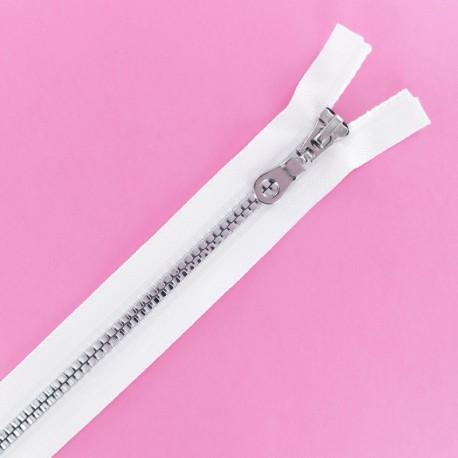 Fermeture Eclair® Non Séparable Moulée Disco - Blanc/Argent
