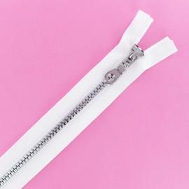 Fermeture Eclair® Séparable Moulée Disco - Blanc/Argent