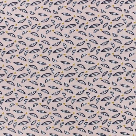 Tissu coton cretonne Hoja - rose x 10cm