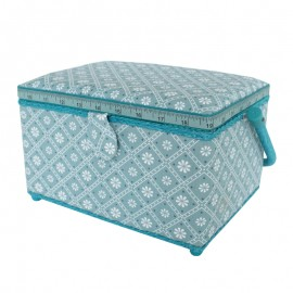 Medium Size Sewing Box - Azulejos