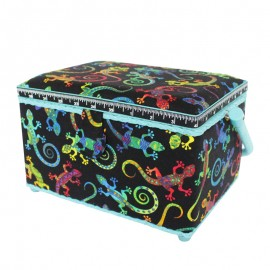 Medium Size Sewing Box - Gekko