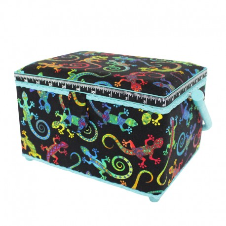 Medium Size Sewing Box - Gekko