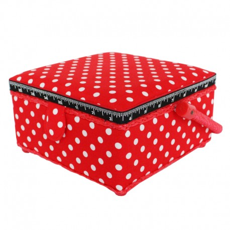 Small Size Sewing Box - Red Dot