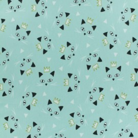 Jersey cotton fabric - Mint green Maoucha x 10cm
