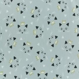 Tissu jersey Maoucha - gris clair x 10cm