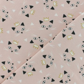 Jersey cotton fabric - grey Maoucha x 10cm