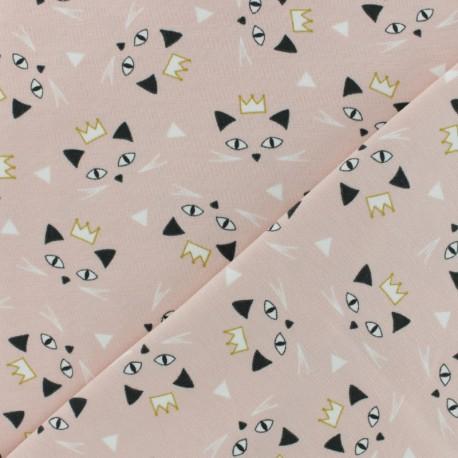 Tissu jersey Maoucha - rose x 10cm