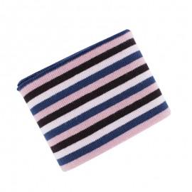 Berlingo Striped Ribbed Cuffs (110x7cm) - Pinky