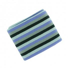 Berlingo Striped Ribbed Cuffs (110x7cm) - Mist