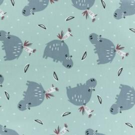 Tissu jersey Hipiz - vert d'eau x 10cm