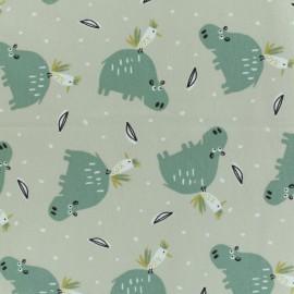 Jersey cotton fabric - beige Hipiz x 10  cm