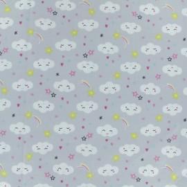 Jersey cotton fabric - grey Maoucha x 10cm