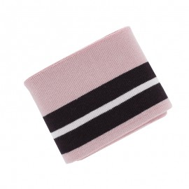 Campus Striped Ribbed Cuffs (110x7cm) - Pinky