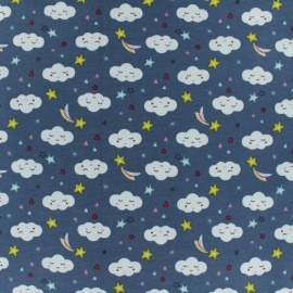 Jersey cotton fabric - light grey Sorra x 10cm